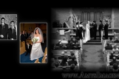 Featured Wedding Photos in a Completed Wedding Album
