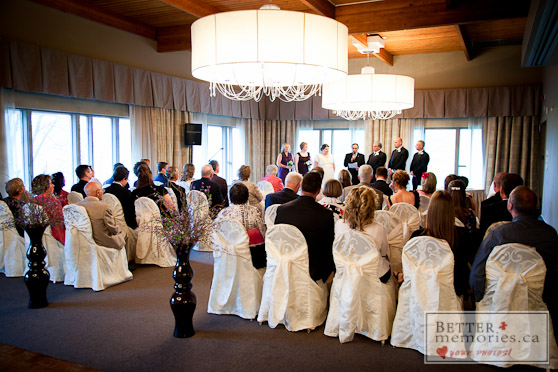 Wedding Ceremony inside the Oshawa Golf Club
