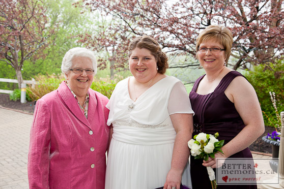 Bride, Mother of the Bride and Maid of Honour