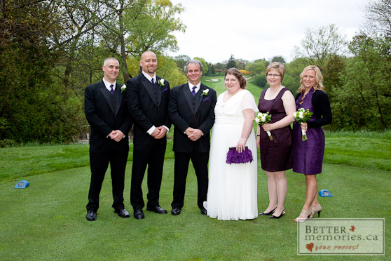 Bridal Party on the Course