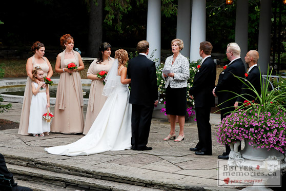 Wedding Ceremony in the Sunken Garden
