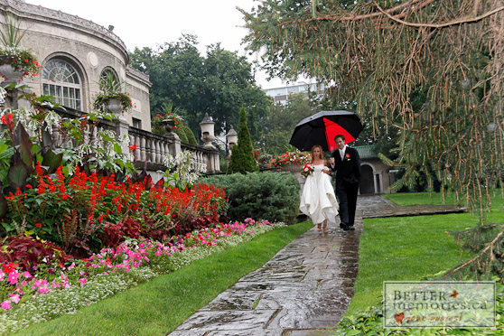 Rainy Day Bride and Groom