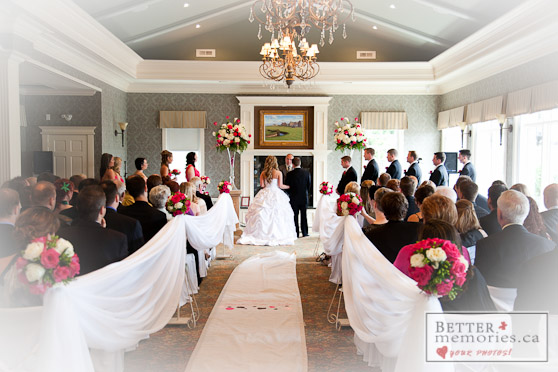 Wedding Ceremony Inside at Royal Ashburn Golf Club