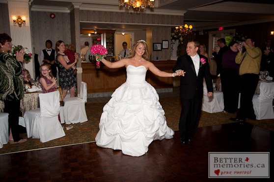 Bride and Groom on the Dance Floor at their reception inside the Royal Ashburn Golf Club