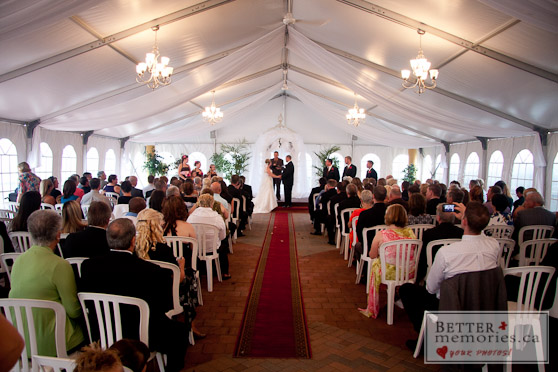 Outdoor Wedding Ceremony Under a Tent
