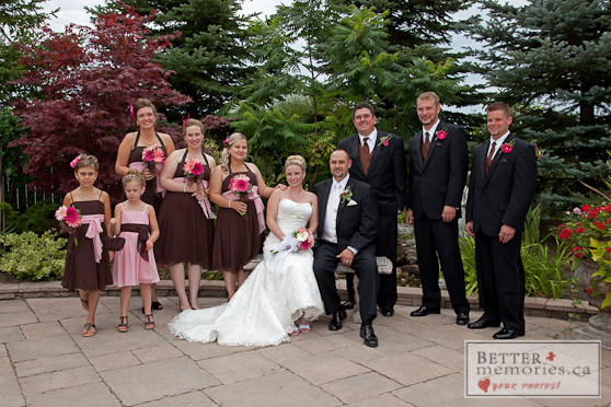 Wedding Party in the Gardens